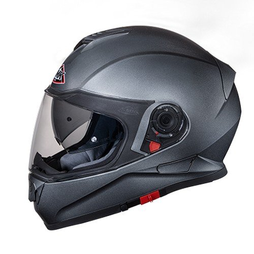 SMK GLDA600 Twister Pinlock Fitted Full Face Helmet with Clear Visor (Anthracite, XL)