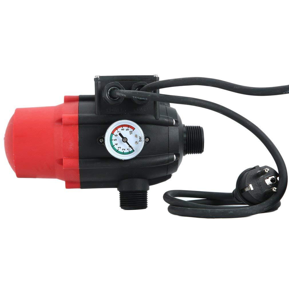 Krispich Pumpensteuerung Druckschalter 10bar Druckwächter, Elektronische Pumpensteuerung mit Kabel für Hauswasserwerk…