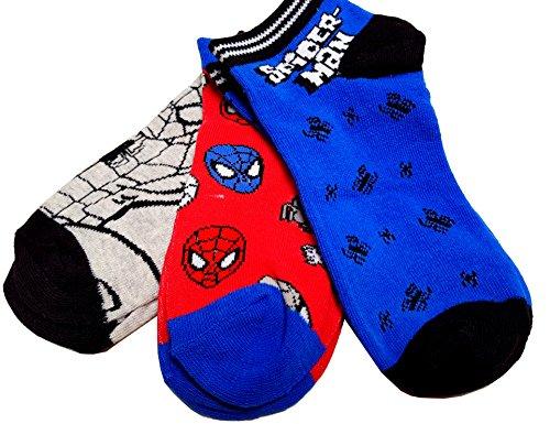 gibra Marvel Spiderman Kinder Socken, 3 Paar, grau/rot/blau, Gr. Gr. 31/34 (Captain America Mädchen)