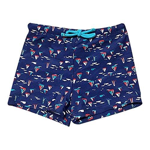 FRAUIT Badehose Jungen Gestreifter Druck Stretch Strand Badeanzug Badebekleidung Shorts mit Fisch Streifen Tarnung Badeshorts für Baby Kinder -