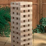 1.2M Giant Wooden Tumbling Tower 60 Solid Pieces Outdoor Garden Family Fun