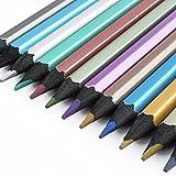 Yosoo Colore Metallo Matite Colorate 12-Colori Penne Disegno Professionale per Pittura