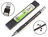 #8: Baile 2.0mm Mechanical Auto Pencil + Lead Box (5 Leads) - Body Color Black