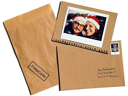 uelle Weihnachtskarten zur Befestigung eines Fotos inkl. Kühlschrankmagnet für Empfänger zur Befestigung des Fotos. Perfekt für alle Instax Wide Bilder. (Individuelle Foto-weihnachtskarten)