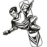 Snow boarder deportes y pasatiempos arte de pared adhesivos adhesivo pared 02 – 50cm Altura – 50cm Ancho – Negro Vinilo