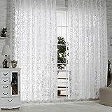 R.LANG Gardinen Wohnzimmer mit Kräuselband Oben Vorhang Weiß HxB 225x300 cm