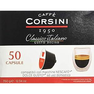 Caffè Corsini - Classico Italiano Miscela di Caffè in Capsule Compatibili Nescafè* DolceGusto*, Gusto Forte e Deciso…