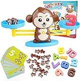 bblike jouet mathématique, 65 pièces cartes de maths de balance de singe bloc numérique jouets