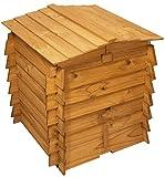 En bois à double charnière Poubelle à compost déchets de jardin composteur en bois Compost Poubelles