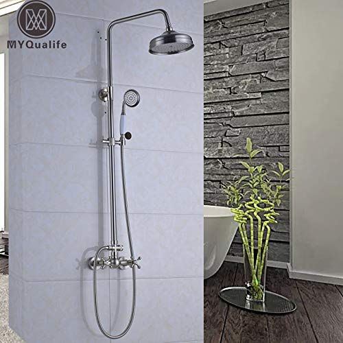 Gute Qualität Dual Griffe Badezimmer Dusche Komplettset mit 8