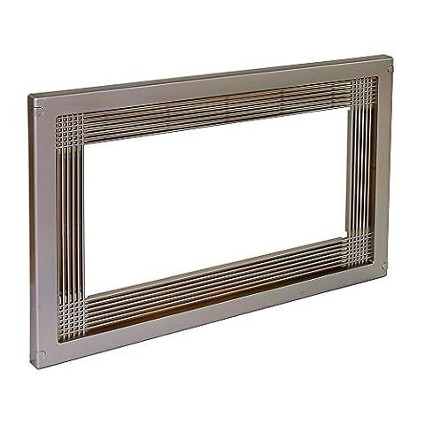 Emuca 8934751 Rahmen zum Einlassen von Mikrowellen in Möbel mit 60 cm aus Kunststoff mit Rostfreier Nickeleloxierung