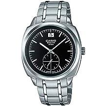 CASIO BEM-150D-1AV - Reloj de caballero analógico Casio BESIDE. Acero inoxidable. Calendario