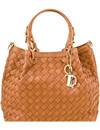 Tuscany Leather TL KeyLuck - Sac shopping en cuir tressé à main - TL141540
