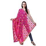 #10: Nivetas Design Studio Chiffon Phulkari Embroidered Pink Color Women's Dupatta (2.5 Metre Length)