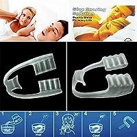 gnrjgs Anti Ronquidos Bruxismo Rechinar los dientes e los Trastornos Fèrula Dental Placa de Descarga Nocturna Protector Bucal para dormir Apnea del Sueno