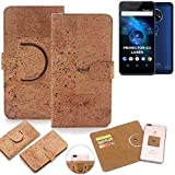 K-S-Trade Schutz Hülle für Allview X4 Soul Vision Handyhülle Kork Handy Tasche Korkhülle Schutzhülle Handytasche Wallet Case Walletcase Flip Cover Smartphone