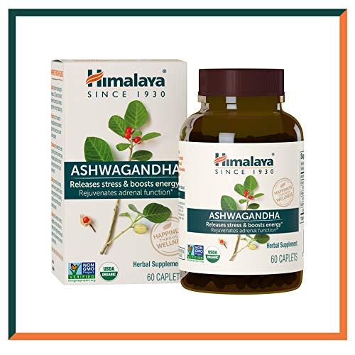 Himalaya Ashwagandha (Ginseng indiano) certificato dall USDA | Integratori naturali che combattono lo stress e aiutano ad aumentare l\'energia, 60 capsule da 4.630 mg (Ashwagandha - Premium)