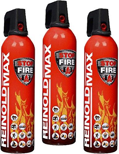 feuerloescher spray 3er Set Lönartz® 750 Feuerlöschspray (Feuerlöscher) (auch für Fettbrände, 3x750g netto) Reinold Max