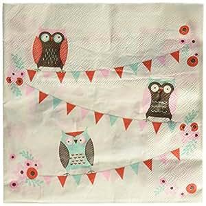 Ginger Ray Hibou Parti Serviettes en papier - Patchwork Owl