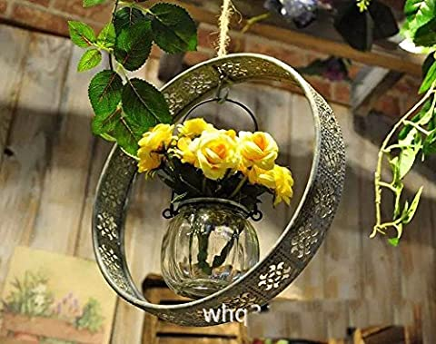 Retro-home Deko Garten Schmiedeeisen hängenden Wasser Kultur Blumen