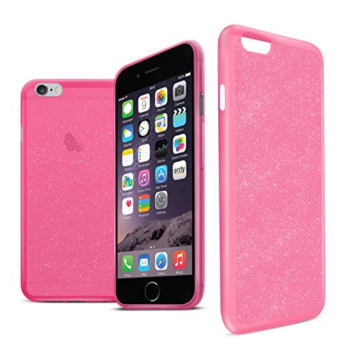 Orzly® - Stardust Case for iPHONE 6 (Small )- Protective Flexible Silicon Gel Phone Case in PINK with Sparkly Glitter Effect - HandyTasche / Schutzhülle / Gel Hülle Schütz in ROSA Farbe - Entwurf exkl Stardust - 4.7 - ROSA