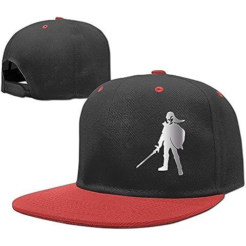Men Women Link Shield Platinum Style Hip-Hop Baseball Cap Red