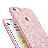 iPhone 7 Hülle, ESR® iPhone 7 Bumper Case Hybrid Schutzhülle Glitzer [Drei Schichten in einem], [Weiche TPU Abdeckung + Glitzer Papier + PC innere Schicht] Hülle für iPhone 7 (4,7 Zoll) (Rosygold) -