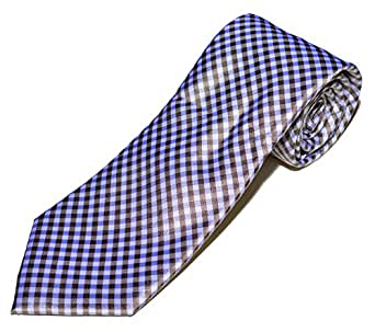 DKNY Ganta Gingham Tie (One Size, Brown/White)