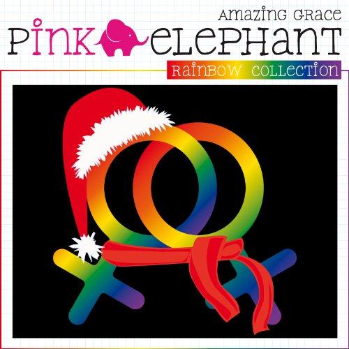 T-Shirt Weihnachten 04 - Damen - Female - weiblich - Rainbow Collection - Regenbogen Schwarz