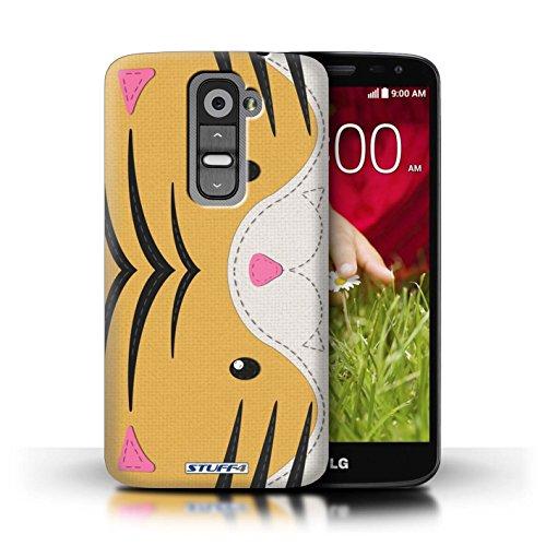Kobalt® Imprimé Etui / Coque pour LG G2 Mini/D620 / Grenouille conception / Série Cousu des Animaux Effet Tigre