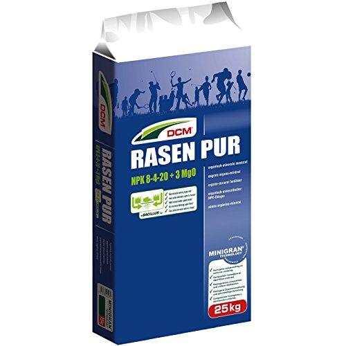 Cuxin DCM Profi Rasen Pur (25kg) Rasendünger mit indirekter Wirkung gegen Moos optimal für den Herbst