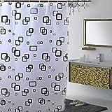 Jungen - Tendina da doccia per il bagno, impermeabile, in PEVA, dimensioni: 80 cm x 180cm, White, 80*180CM