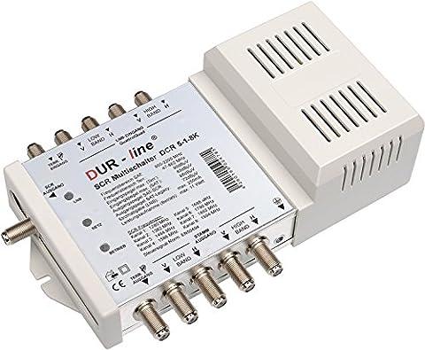 DUR-line DCR 5-1-8-K SCR-Schalter - Einkabellösung für 8 SCR-Teilnehmer (Kaskadierbar) - 2x Test