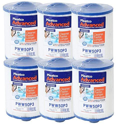 6 Stück Filterkartusche Kartusche Whirlpool Filter Lamellenfilter Original Pleatco Kartuschenfilter PWW50P3