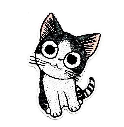 Old Kostüme School Disney (rabana Cat Eyes Big Cartoon Kids Kinder Cute Animal Patch für Heimwerker-Applikation Eisen auf Patch T Shirt Patch Sew Iron on gesticktes Badge Schild)