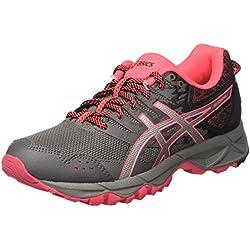 Asics Gel-Sonoma 3, Zapatillas de Deporte Mujer, Gris (Carbon/Silver/Diva Pink), 40 EU