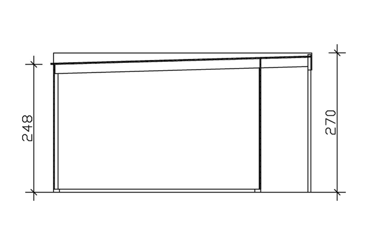 SKAN HOLZ Tokio 4, 19mm Gartenhaus, 2- schalig, unbehandelt, 402 x 402 cm