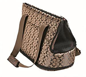 Georgia Cat Small Pet Dog Carry Bag Bronze/Black