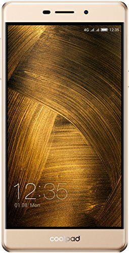 Coolpad Modena 2 Smartphone (13,9 cm (5,5 Zoll), IPS Display, 16 GB, Android 6.0) Champagner Gold