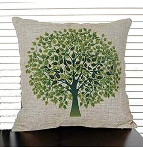HLKPE Jastore Polyester Green Tree on Both Side Decorative Thick Pillow Cushion Cover Pillowcase 18-by-18-inches (18x18 Inches)