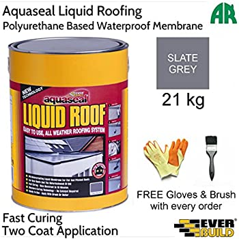 Everbuild Aquaseal Liquid Roof Rubber Roof Membrane