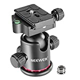 #9: Neewer KINGJOY Professional Metal 360 Degree Rotating Panoramic Ball Head with 1/4 inch Quick Release Plate and Bubble Level, up to 17. 6pounds/8kilograms, for Tripod, Monopod, Slider, DSLR Camera, Camcorder