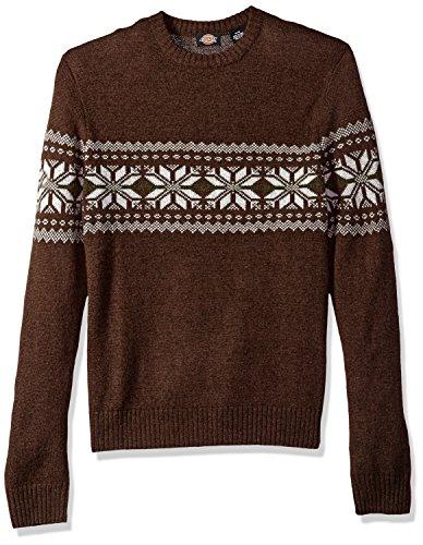 Dickies Men's Ragg Wool Nordic Crew Pullover, Espresso, L (Nordic Wool Pullover)