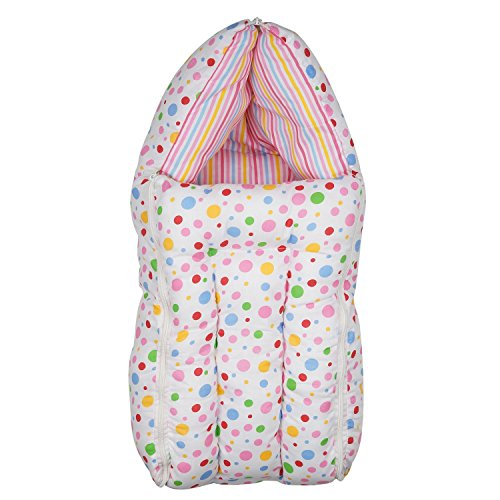 First Kids Step gift pack New born Baby Pink all season use 3 in 1 baby wrapper or blanket cum sleeping bag cum beeding(0-6months)