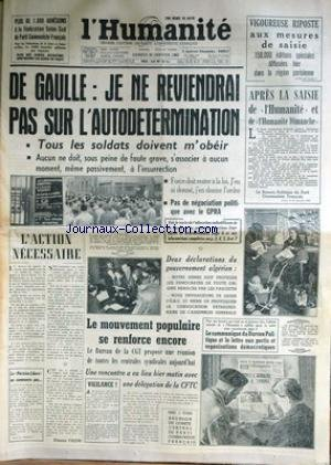 HUMANITE (L') du 30/01/1960