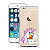 "licaso® Hülle für iPhone 6 6S 4,7"" TPU Einhorn Klo Kotzi Party-Hard Regenbogen iPhone 6 Case transparent Sketch klare Einhörner Schutzhülle iphone6 Tasche iPhone 6 Hülle Comic Hülle Unicorn Cases (iPhone 6 6S 4,7"", Einhorn Klo Kotzi)"