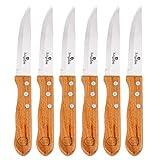 Berlinger Haus - Set da bistecca di 6 coltelli in acciaio INOX con manico in legno di faggio