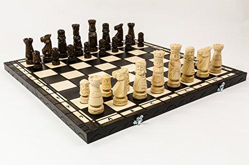 Riesige DAS SCHLOSS 60 cm dekoriert Luxus geformte Schachspiel aus Holz, handgefertigte klassische Schachspiel