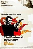 Posterlounge Leinwandbild 120 x 180 cm: Dirty Harry von Everett Collection - fertiges Wandbild, Bild auf Keilrahmen, Fertigbild auf echter Leinwand, Leinwanddruck