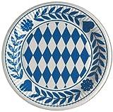 11846 - PAPSTAR - 10 Teller, Pappe rund Ø 23 cm 'Bayrisch Blau'